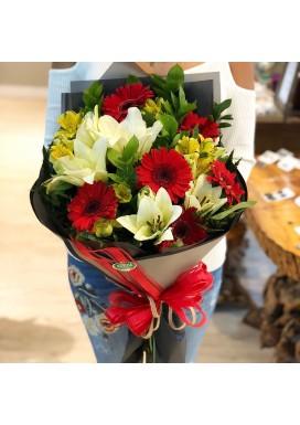 Bouquet Gérberas Red