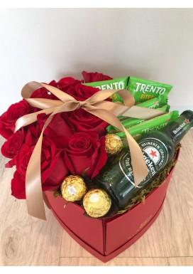 Caixa de rosas importadas + Trento