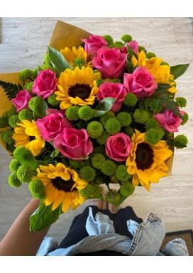 Bouquet Girassol + Pink