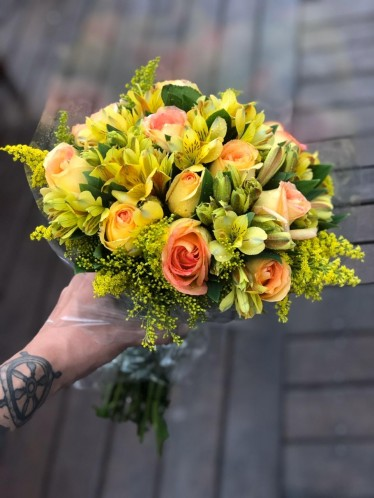 Bouquet Astromélias e Rosas