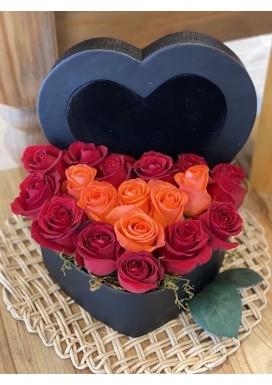 Box Rosas Heart
