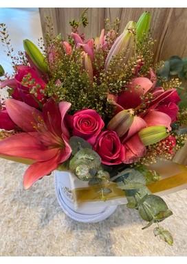 Box Lírios e rosas