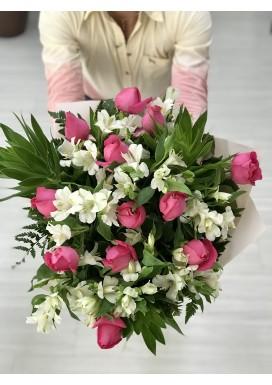 Bouquet Astromélia + Rosas