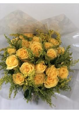 Topiaria com 20 Rosas Amarelas