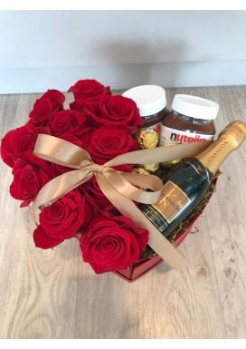 Rosas com Chandon