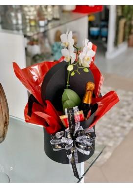 Box Mini Orquídea + Mini Prosecco + Chocolate
