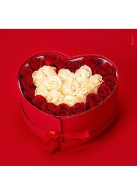 Box Coração Rosas