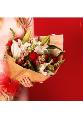 Bouquet Lirios e rosas