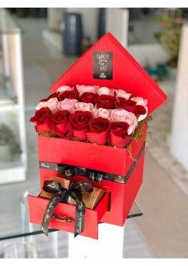 Box Gaveta Rosas