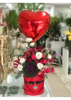 Box Flowers Moderno + Balão