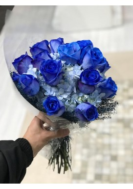Bouquet Rosas + Horténcia