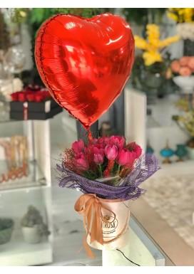 Box Tulipa + Balão