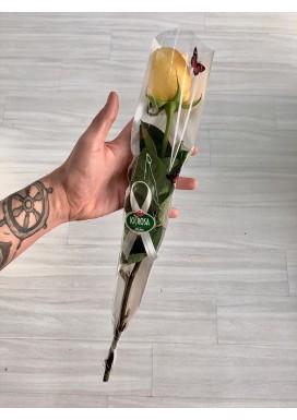 Rosa Amarela Embalada