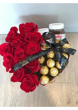 Rosas importadas + Nutella